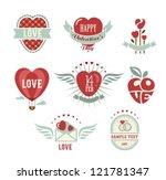 vintage love set | Shutterstock .eps vector #121781347