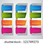 web page label banners | Shutterstock .eps vector #121789273