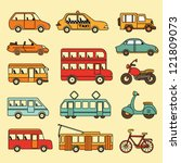vector collection of cars and... | Shutterstock .eps vector #121809073