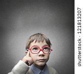 thinking child | Shutterstock . vector #121813207