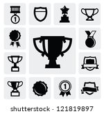vector black trophy and awards...