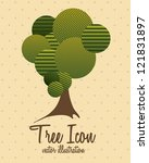illustration of tree icon with... | Shutterstock .eps vector #121831897