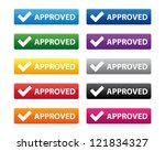 approved buttons | Shutterstock .eps vector #121834327