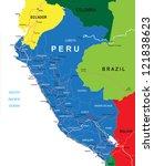 peru map | Shutterstock .eps vector #121838623