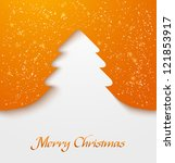 orange abstract christmas tree... | Shutterstock .eps vector #121853917