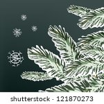 Pine Tree Snowy Branches Winte...