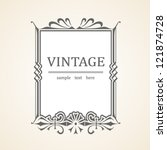 Vector Vintage frame - stock vector