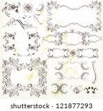 decorative elements for elegant ... | Shutterstock .eps vector #121877293
