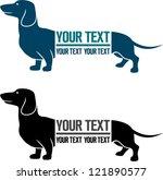 Veterinary emblem dachshund