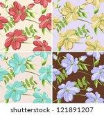 seamless flowers | Shutterstock .eps vector #121891207