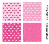 Set Of Valentine Pink Patterns