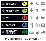 vector collection of icons and... | Shutterstock .eps vector #121902577