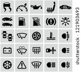 car dashboard icons set. | Shutterstock .eps vector #121903693