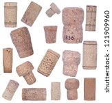 Collection of bottle corks - stock photo