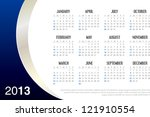 2013 Business Calendar in editable vector format - stock vector
