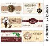 set of 6 detailed business... | Shutterstock .eps vector #121918093