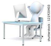 successful business man. 3d... | Shutterstock . vector #121920403