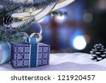Happy New Year and Merry Christmas decorative composition - stock photo