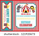 kid birthday invitation card... | Shutterstock .eps vector #121920673