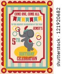 kid birthday invitation card design. vector illustration - stock vector