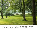 beautiful green park | Shutterstock . vector #121921393