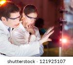 portrait of a focused... | Shutterstock . vector #121925107