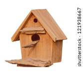 A Bird House Isolate On White
