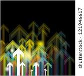 arrows vector for business grow ... | Shutterstock .eps vector #121946617