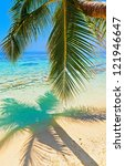 tropical beach on the island... | Shutterstock . vector #121946647