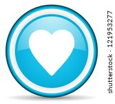 heart blue glossy icon on white ... | Shutterstock . vector #121953277