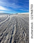Small photo of Alkali Flat Trail in White Sands National Monument, New Mexico, USA.