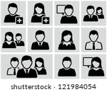 Business persons, businessman,  business woman. Icons set. - stock vector
