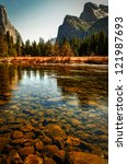 Scenic View Of Merced River In...
