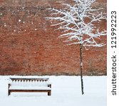 Bench And Lonely Tree Covered...