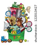 Huge Pile Of Toys   Cartoon