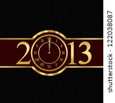 New year 2013 with clock instead number zero - stock photo