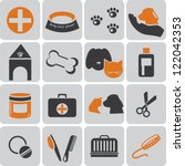 vet color icons | Shutterstock .eps vector #122042353