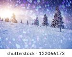 a frosty and sunny day is in... | Shutterstock . vector #122066173