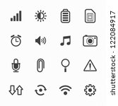 Mobile Icons With White...