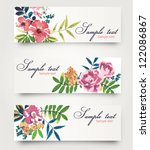 vector card with cute tropical... | Shutterstock .eps vector #122086867