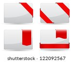 business cards with red tags set | Shutterstock .eps vector #122092567