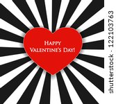 Valentine's Day Card With Blac...
