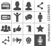 social network icons. simplus... | Shutterstock .eps vector #122148643