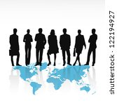 business people silhouettes... | Shutterstock .eps vector #122194927
