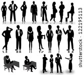 business people silhouettes... | Shutterstock .eps vector #122195113