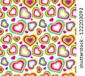 vector seamless pattern of heart   Shutterstock .eps vector #122203093