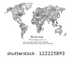 world  map | Shutterstock .eps vector #122225893