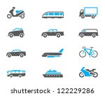 Transportation icon series in duo tone color style - stock vector