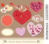 valentine's day design elements ... | Shutterstock . vector #122232583