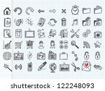 Set Of 54 Doodle Icons